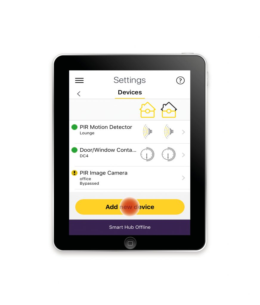 Image 4 showing how to add a device to Accessories can be added to the Smart Home Range System.