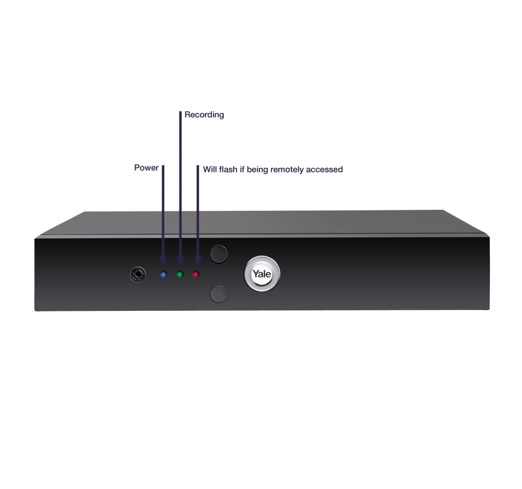Image displaying what the LED lights signify on the DVR