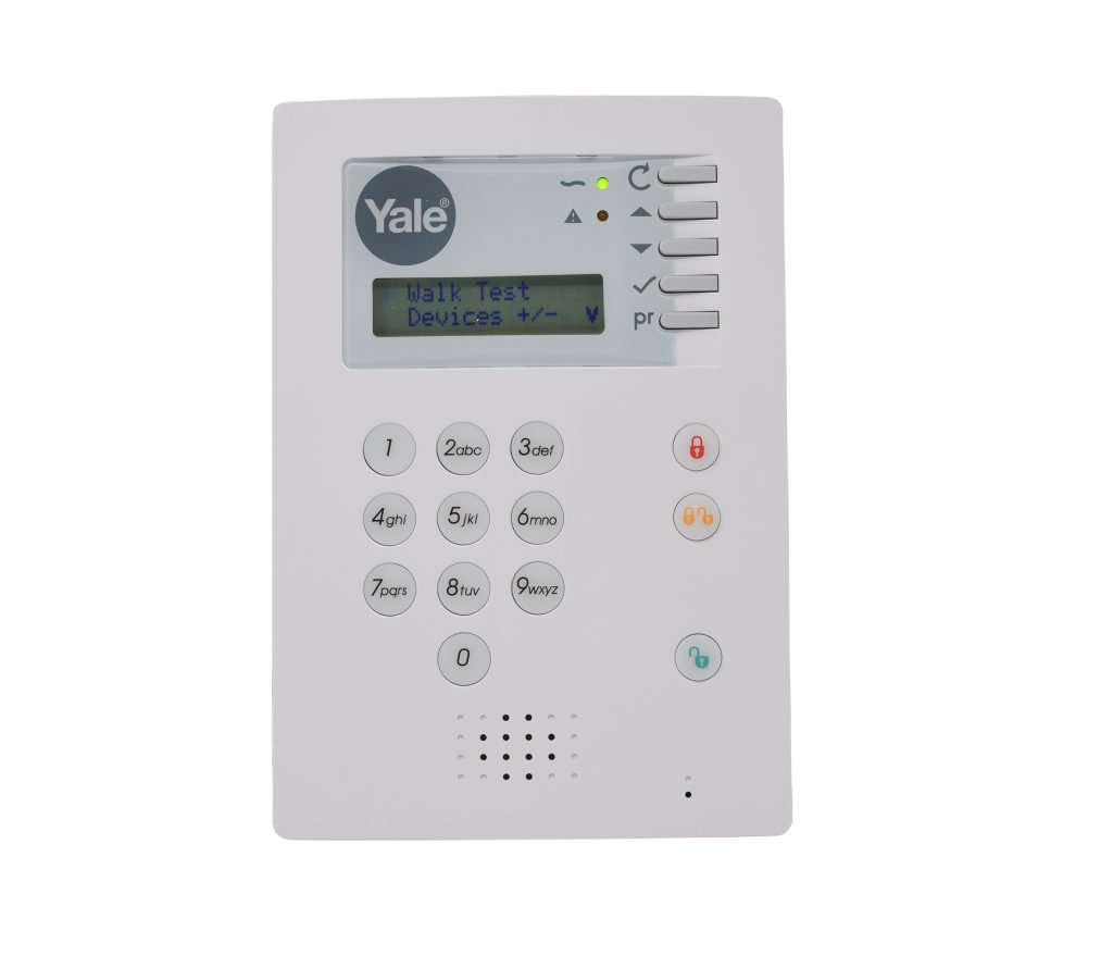 Images showing how to check the 30 second beeps on the hsa 6400 alarm control panel.
