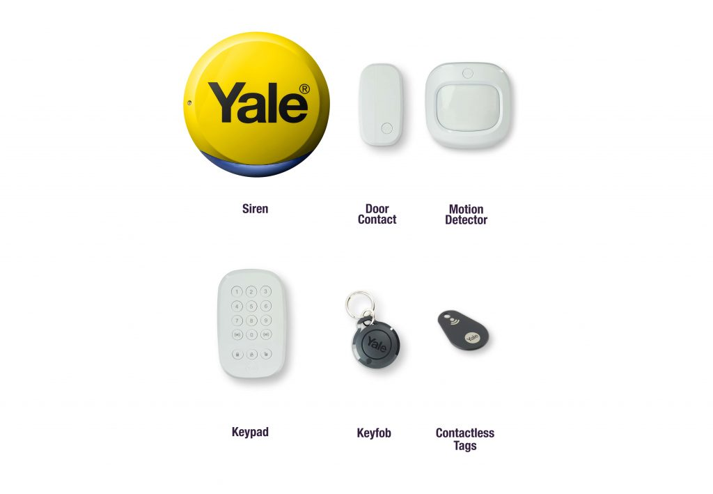 Image of accessories for Intruder Alarm.