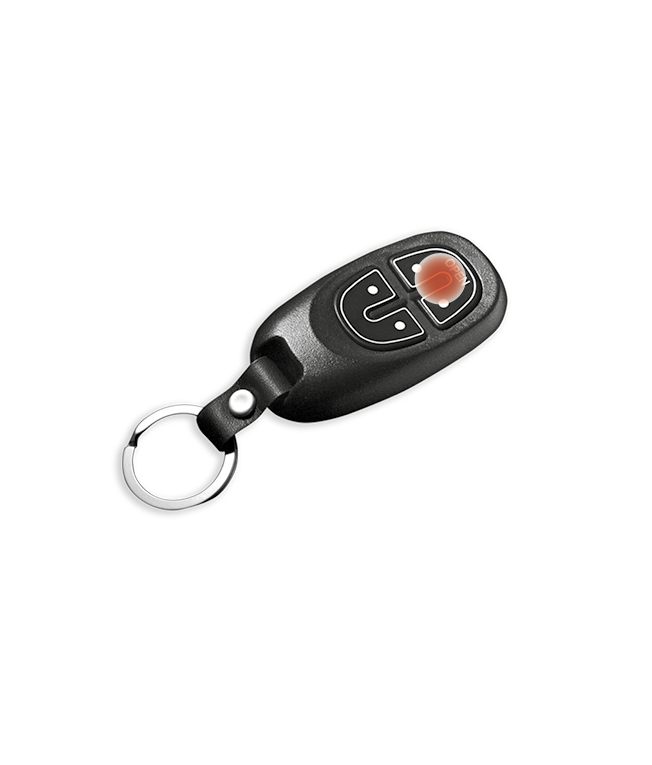 Yale key fob with both unlock buttons highlighted