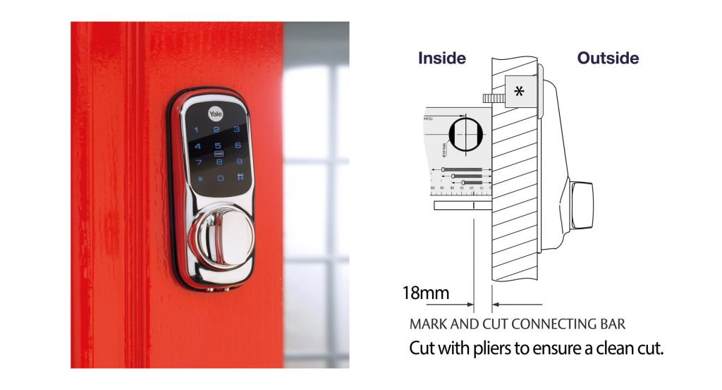 keyless connected smart door lock showing how to cut the tailbar