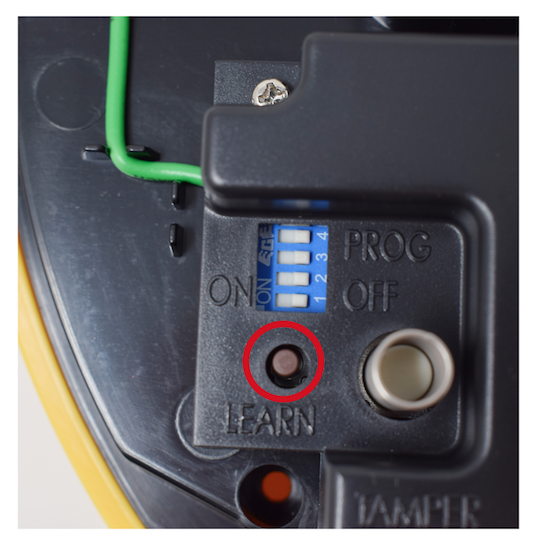 Image showing how to reprogramme a keypad into the siren for the HSA 6200 alarm system.