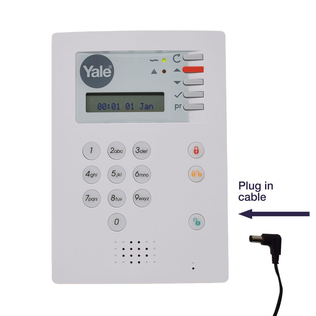 Image showing how to perform a factory reset on an HSA 6400 alarm kit.